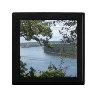 City of Dubuque, Iowa on the Mississippi River Small Square Gift Box