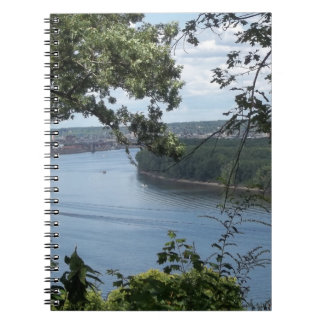 City of Dubuque, Iowa on the Mississippi River Spiral Note Books