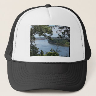 City of Dubuque, Iowa on the Mississippi River Trucker Hat