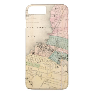 City of Fall River, Massachusetts Map (1874) iPhone 8 Plus/7 Plus Case