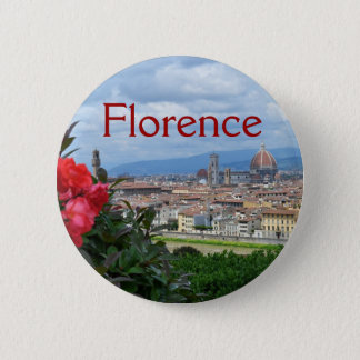City of Florence, Italy 6 Cm Round Badge
