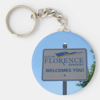 City of Florence Welcomes You! Keyring Basic Round Button Key Ring