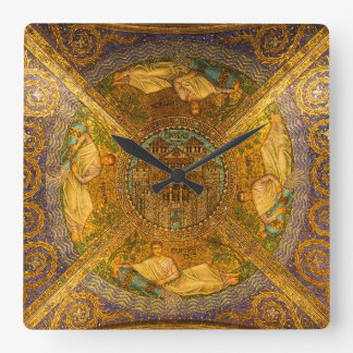 City of God Neo Byzantine mosaic cathedral ceiling Wall Clocks
