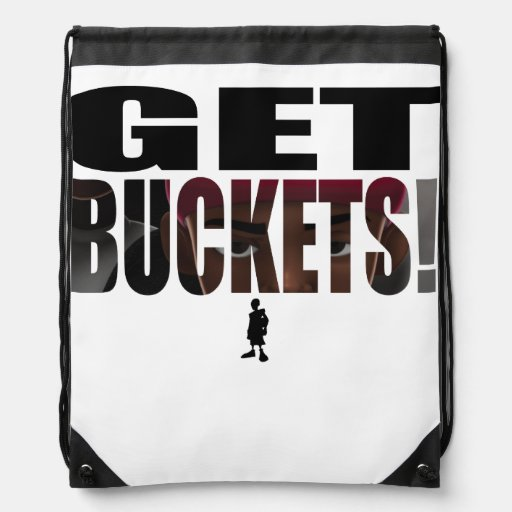 City Of Hoops: Get Buckets Shoe Drawstring Backpacks