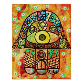 City Of Jerusalem Hamsa Poster