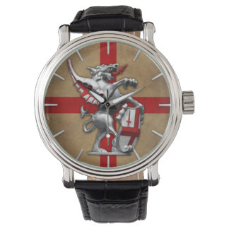 City of London Dragon on Old English Flag Watch