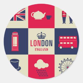 City Of London United Kingdom England Round Sticker
