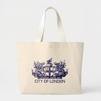 City of London, Vintage, Coat of Arms, England UK Large Tote Bag