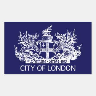 City of London, Vintage, Coat of Arms, England UK Rectangular Sticker