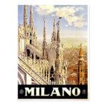 City of Milan Italian Travel Poster 1920 Postcards