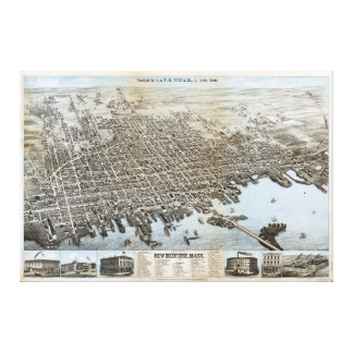 City of New Bedford Massachusetts (1876) Canvas Print
