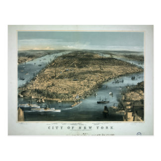 City of New York in 1856 by Charles Parsons Postcard