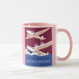 City of New York municipal airports retro Mug