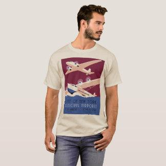 City of New York municipal airports retro T-Shirt