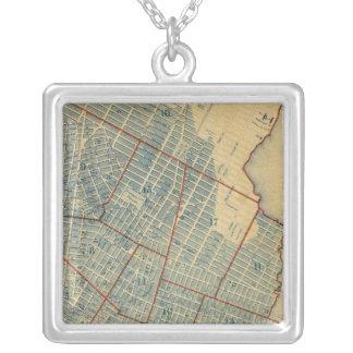 City of NewYork Square Pendant Necklace