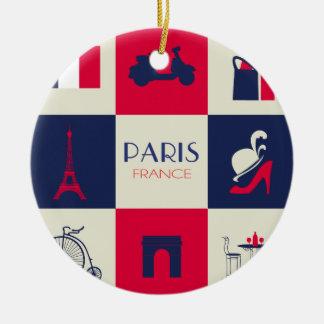 City Of Paris Round Ceramic Decoration