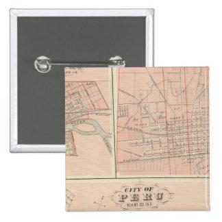 City of Peru, Miami Co 15 Cm Square Badge
