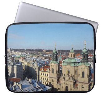 City of Prague and the Baroque Church St. Nicholas Laptop Sleeve