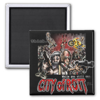 City of Rott Merchandise Square Magnet