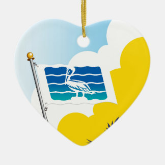 City of Saint Petersburg Florida Flag Ceramic Ornament