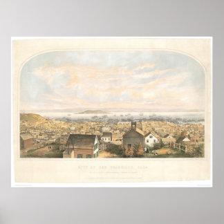 City of San Francisco, CA. 1852 (1065A) Poster