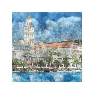City of Split in Croatia Canvas Print