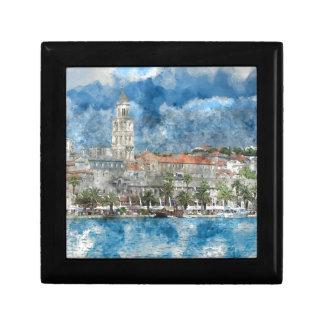 City of Split in Croatia Small Square Gift Box