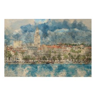 City of Split in Croatia Wood Print