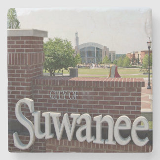 City Of Suwanee, Georgia, Marble Stone Coaster. Stone Coaster