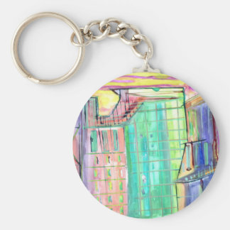 City of the Future or Past Key Chain