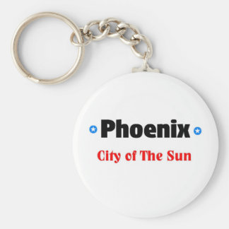 City of the sun basic round button key ring
