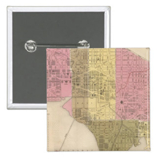 City of Washington 15 Cm Square Badge