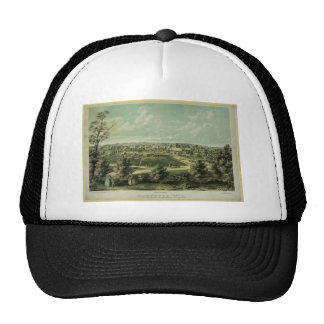 City of Waukesha Wisconsin from 1857 Mesh Hats