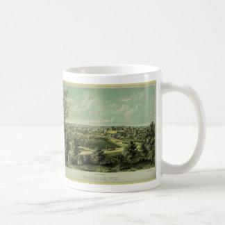 City of Waukesha Wisconsin from 1857 Coffee Mug