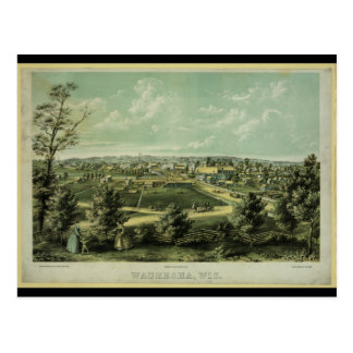 City of Waukesha Wisconsin from 1857 Postcard
