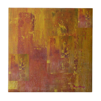 City On Fire Small Square Tile