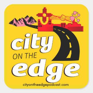 City on the Edge stickers! Square Sticker