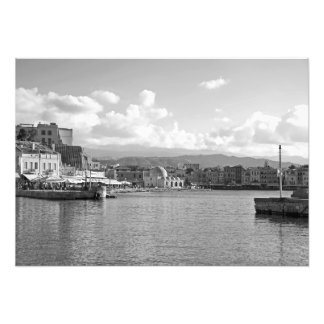 City on the shore of the sea bay photo print