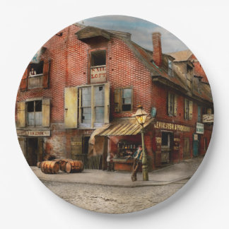 City - PA - Fish & Provisions 1898 9 Inch Paper Plate