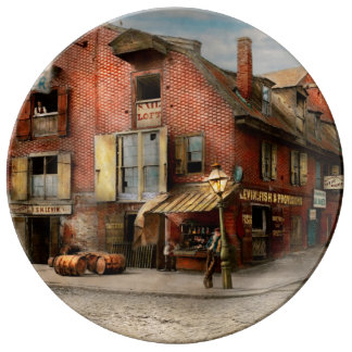 City - PA - Fish & Provisions 1898 Porcelain Plate