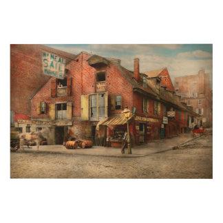 City - PA - Fish & Provisions 1898 Wood Print