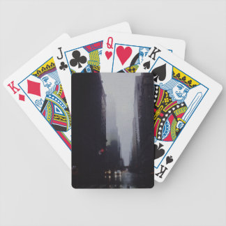 City Painting Bicycle Playing Cards