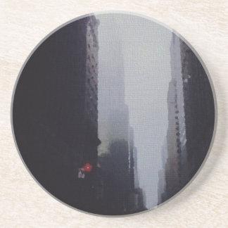 City Painting Sandstone Coaster