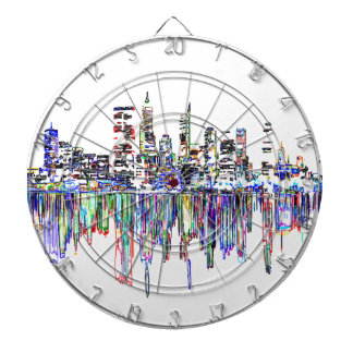 City panorama dartboard