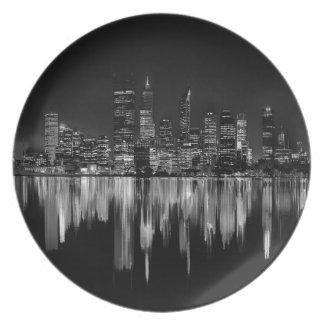 City panorama plate