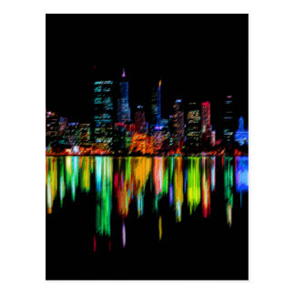 City panorama postcard