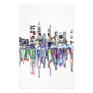 City panorama stationery