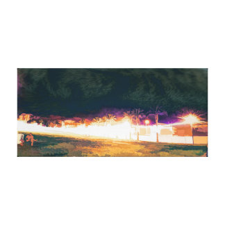 city Park at night 6 Canvas Print