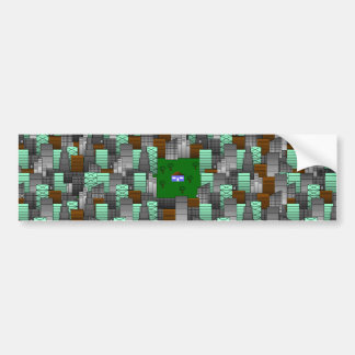 City Pattern with Little House Bumper Sticker