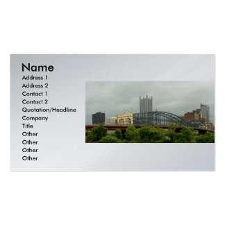 City - Pittsburg PA - The grand city of Pittsburg Pack Of Standard Business Cards